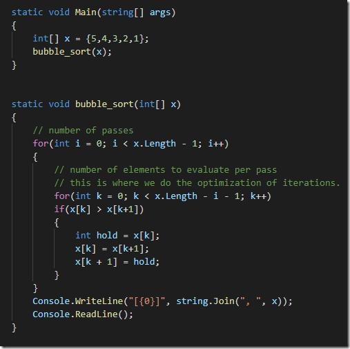 bubblesortwithoptimizediterations