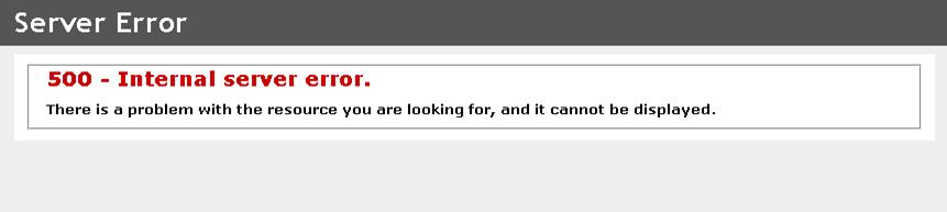 Debugging Mysterious 500 Internal Server Errors.